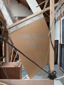 Stencil with wallpaper border